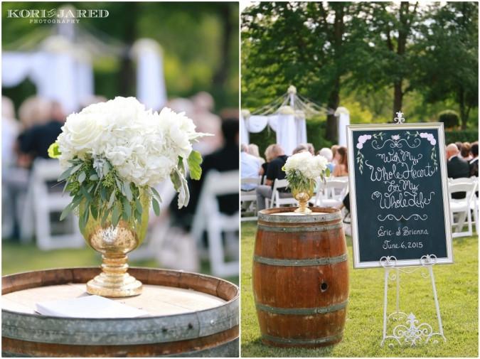 Ceremony arrangement by Visual Impact Design | Kori & Jared Photography