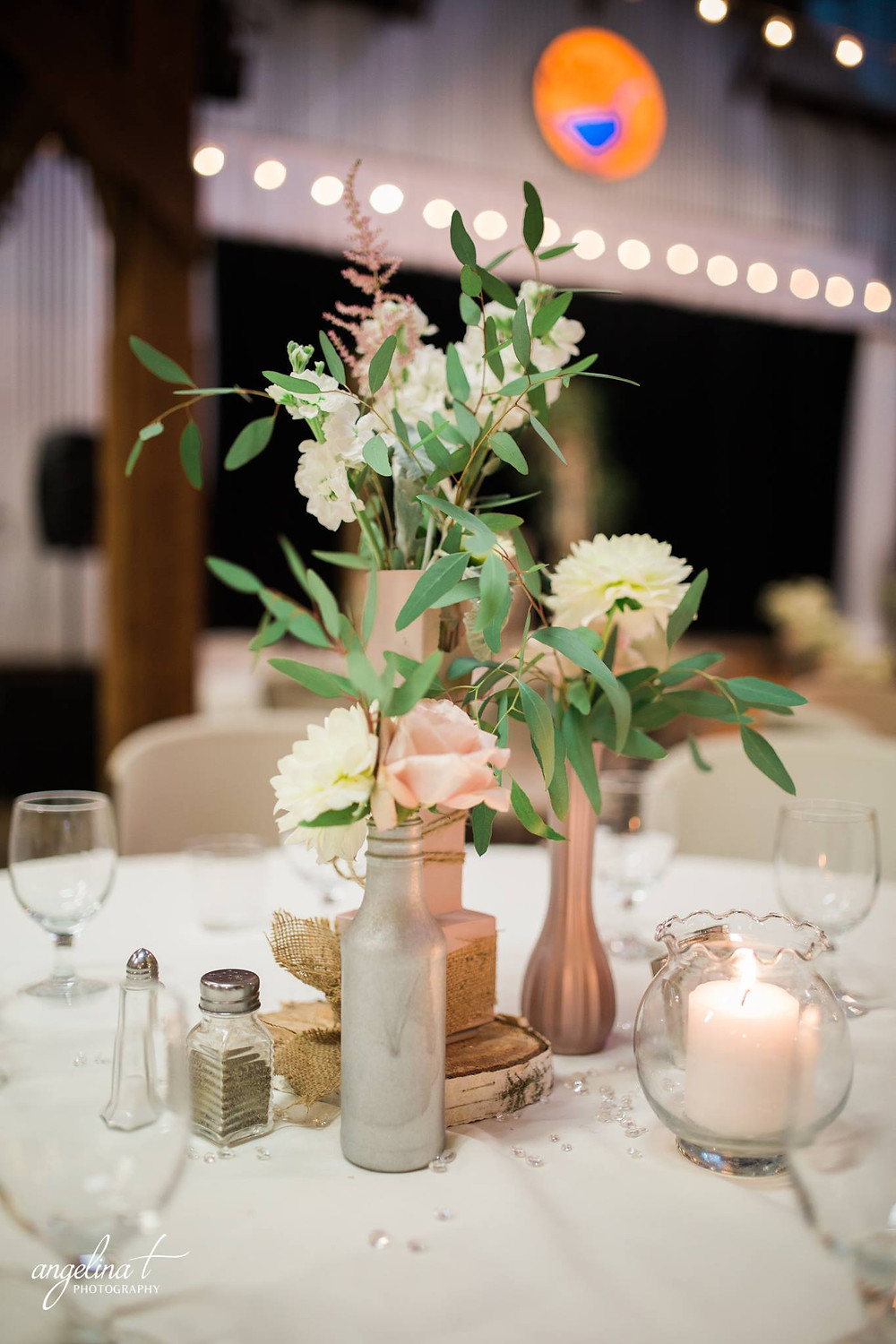 Rustic, elegant centerpiece by Visual Impact Design | Angelina T Photography