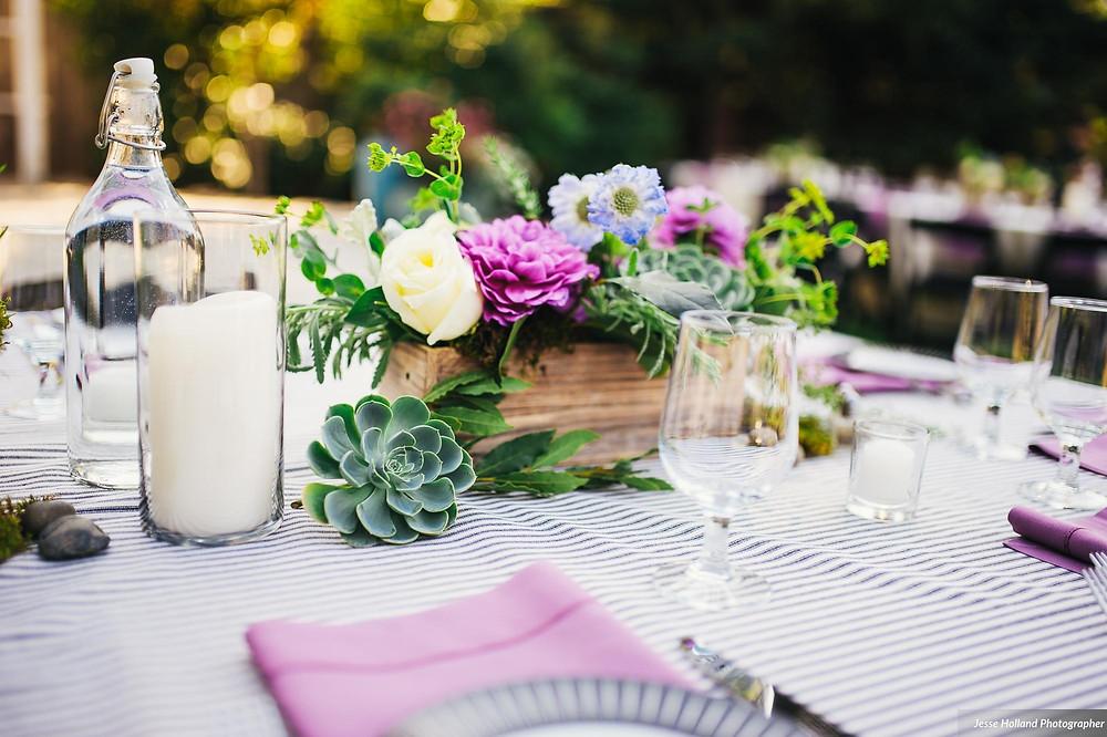 Amanda + Ryan's Inspiring Backyard Wedding | Florals by Visual Impact Design | Photo by Jesse Holland Photography