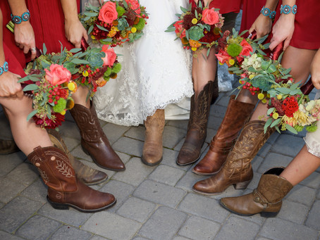Boots 'n Blooms: Amy + Kurt's Cowboy Country Wedding