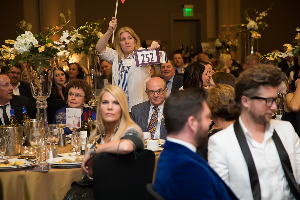 "Bidding at the Make-A-Wish ""Wine & Wishes"" event Sacramento, CA"