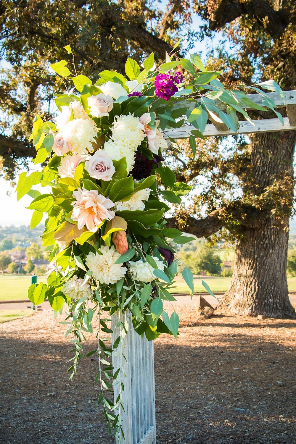 Ceremony Flowers by Visual Impact Design. CinZo Photography