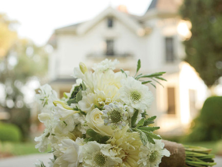 Garden Party Bouquets: Real Weddings Magazine Photo Shoot