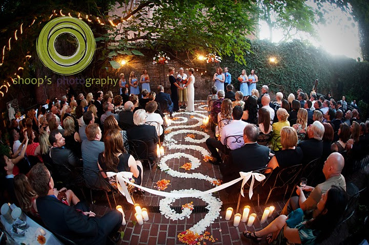 Aisle floral design & ceremony flowers by Visual Impact Design | Shoop's Photography | Old Sacramento