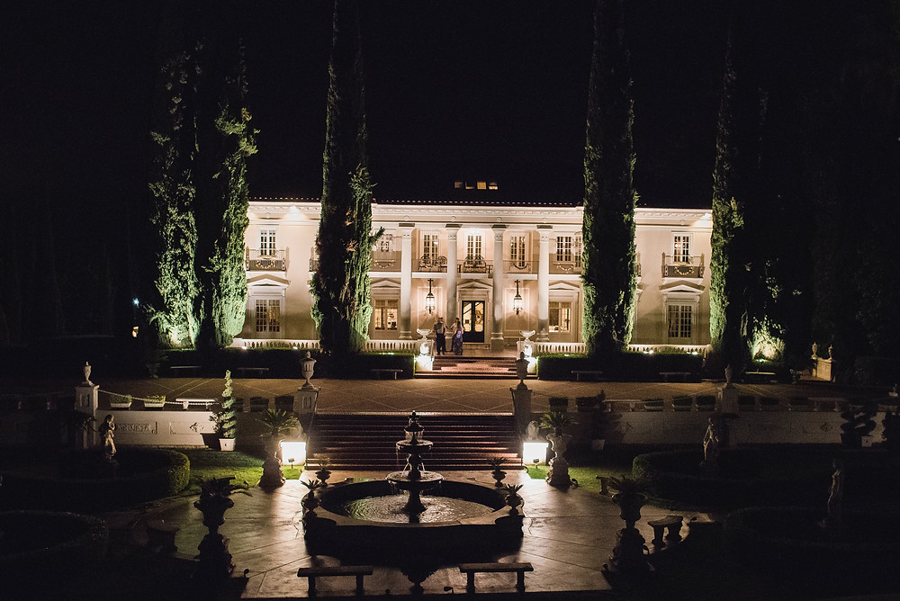Grand Island Mansion at night | Custock Photography