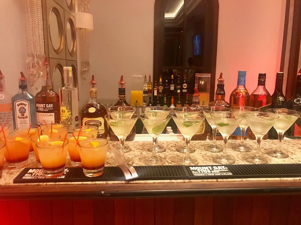 Signature cocktails  at Sandals Royal Barbados