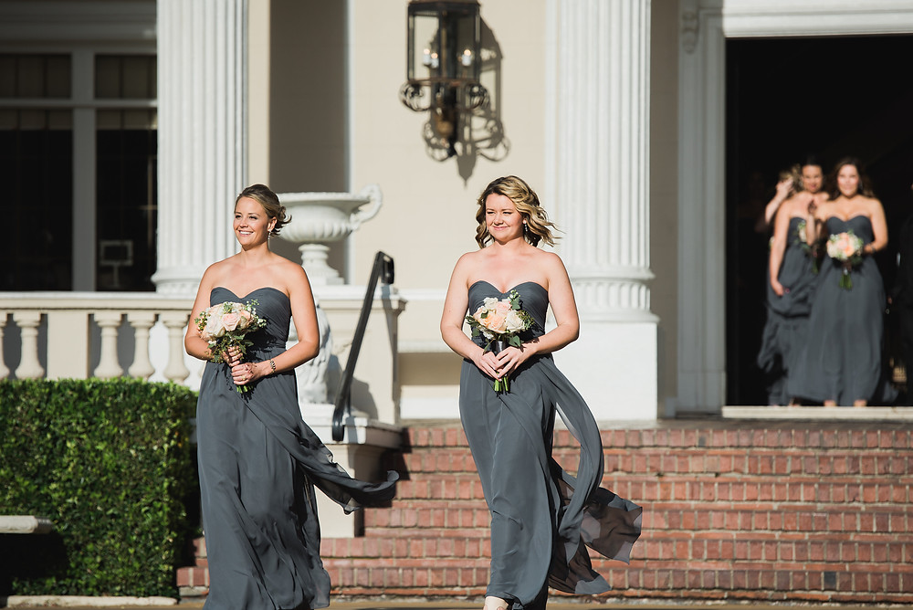 Bridesmaids | Visual Impact Design wedding flowers | Custock Photography