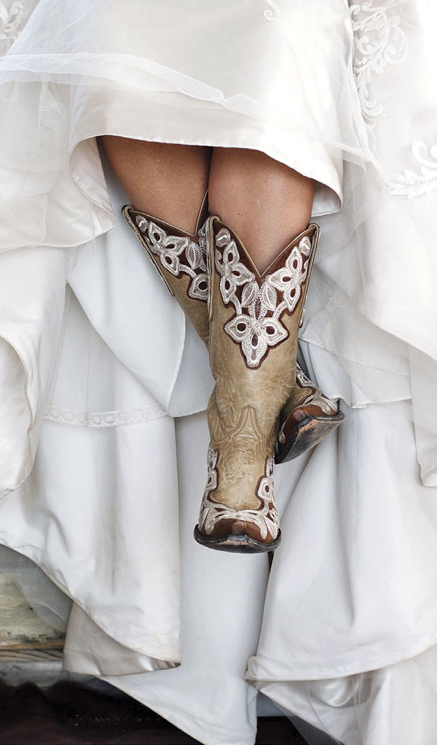 Bride in cowboy boots | Emik Nikora Wedding Photographers