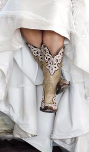Bride in cowboy boots | Emik Nikora Wedding Photographers