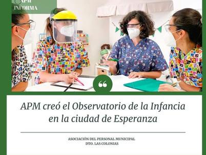 POLÍTICA PÚBLICAS PARA LA INFANCIA: LA A.P.M. CREÓ EL OBSERVATORIO DE LA INFANCIA EN ESPERANZA
