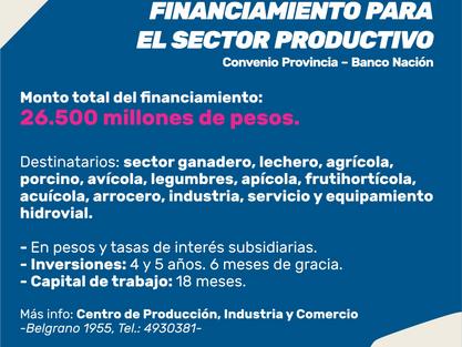 PROGRAMA DE FINANCIAMIENTO PARA EL SECTOR PRODUCTIVO
