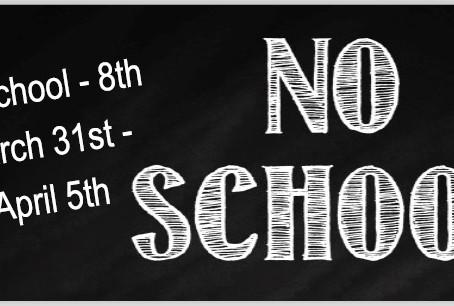 No School Days April