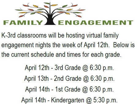 Family Engagement Nights in April