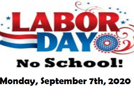 No School - Monday, September 7th