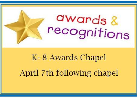 3rd Quarter Awards Chapel
