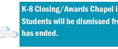 Closing Chapel - 10 a.m. May 27th