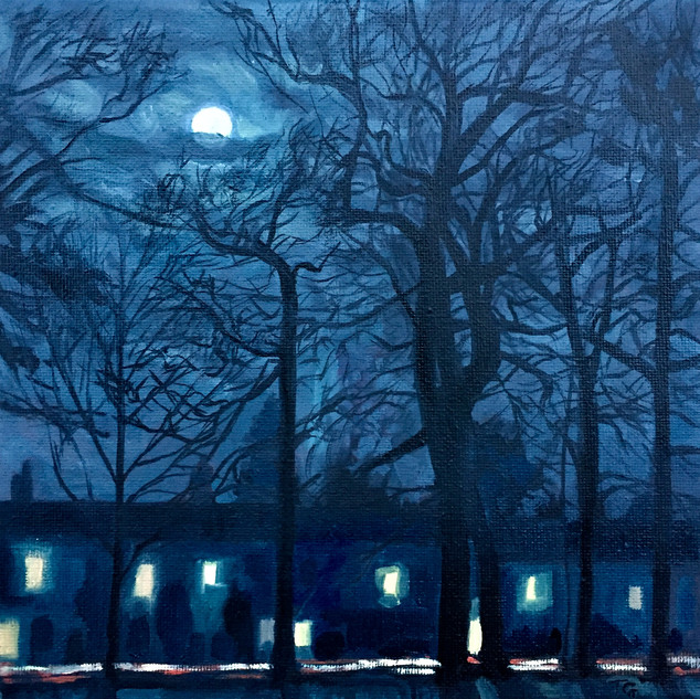 Moonlight over Avenue Road and Kingsheat