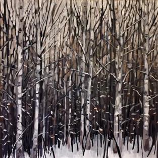 Winter Birches I