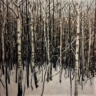 Winter birches 2