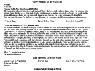 """Quarantine Worship"" March 22, 2020 Bulletin & Lyrics"