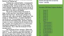 Nov. 2020 Newsletter
