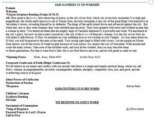 July 4 Bulletin