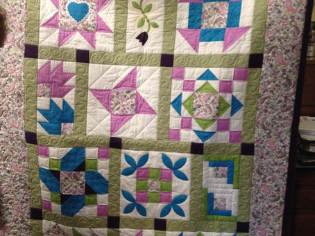 Beginner quilter finishes 3rd quilt!
