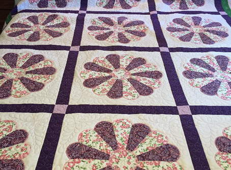 Grandma's quilt now finished