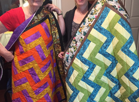 Mom and Daughter quilters