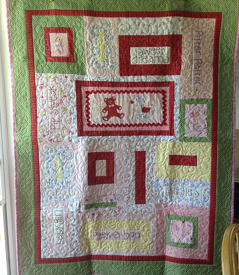 Baby quilt #2 - girl
