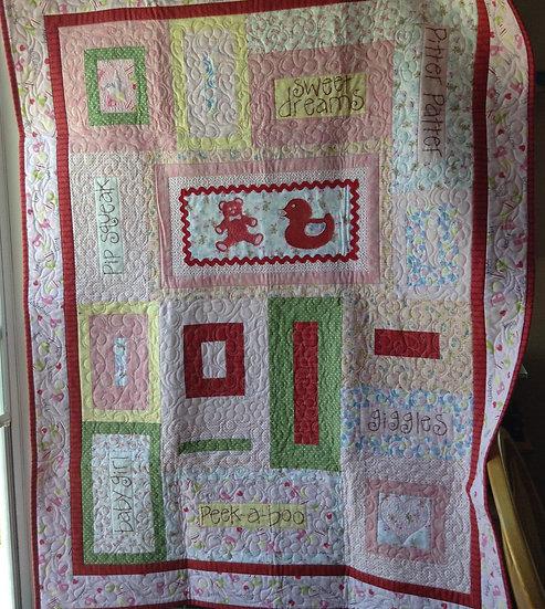 Baby quilt #3 - girl