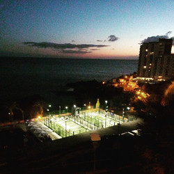 Paddel Tennis courts _madeira_islands by _refarquitectos_#refarquitetos #madeiraisland #arquitectura