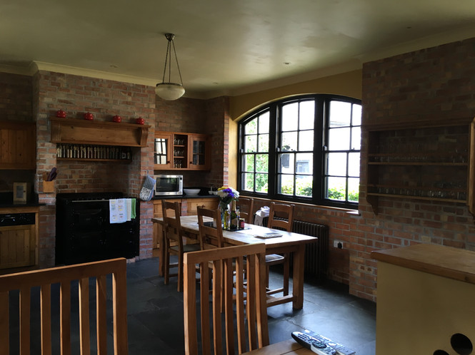 Kitchen with large electric AGA