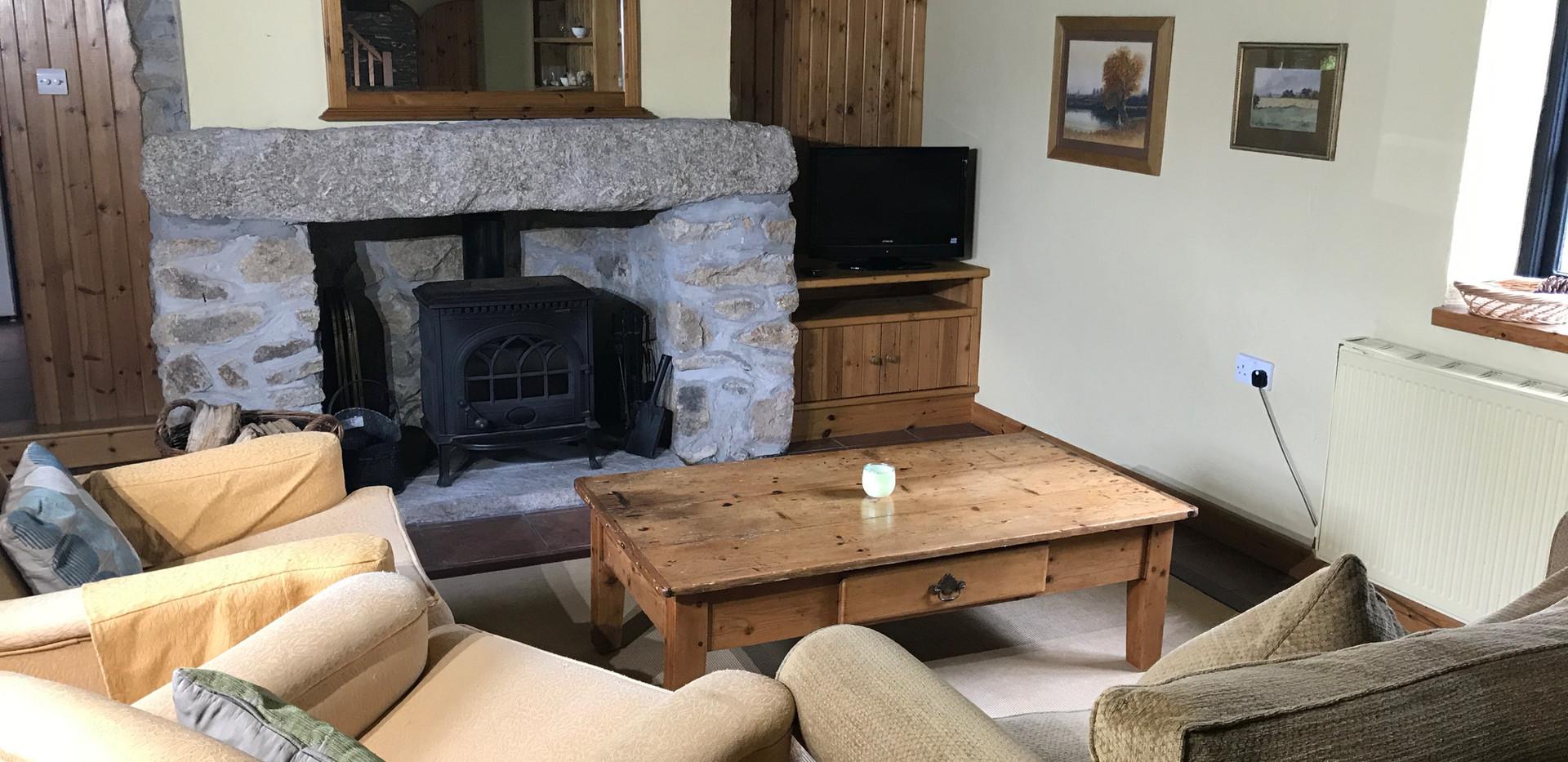 Log Burner and Sofas