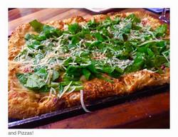 Pizza com rúcula