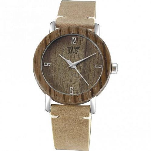 Davis wood horloge bruin