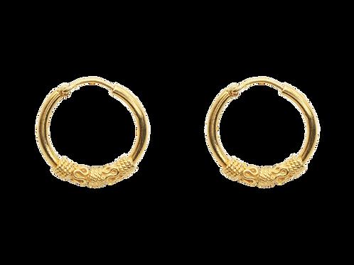 oorbellen goud tribal
