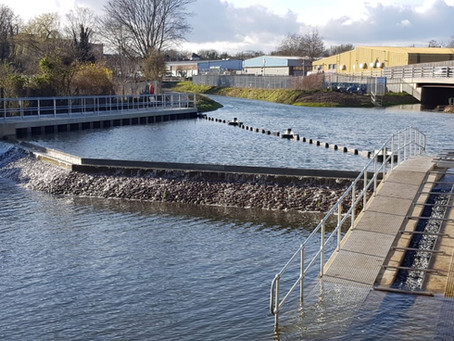 Green Lane Weir works complete!