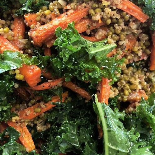 Large Salad Bowl - Spinach, Lentil & Herbs, Roast Pumpkin & Tomato and Mint Sa