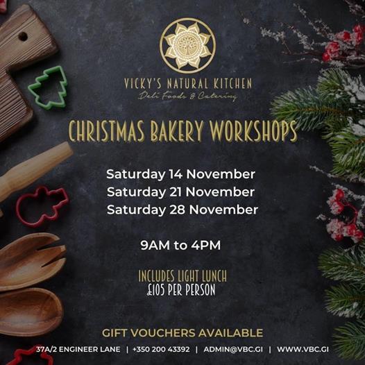Christmas Bakery Workshop - 21st Nov