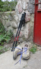 Hiking Boots and Hiking Poles
