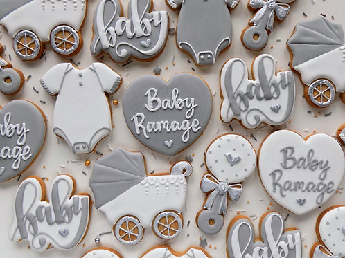 Baby Shower Individual Biscuits