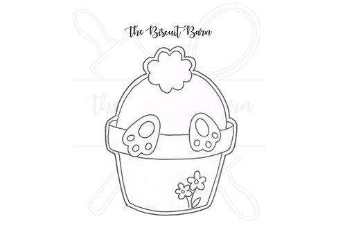 Bunny Plant Pot cutter file