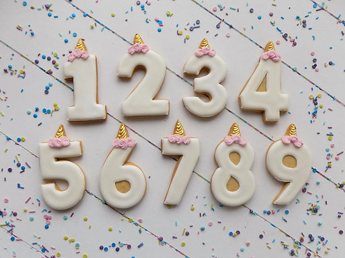 Unicorn Number Biscuits