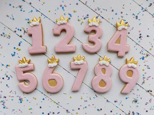 Princess Number Biscuits