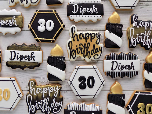 Birthday Individual Biscuits