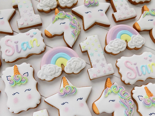 Unicorn & Rainbows Individual Biscuits