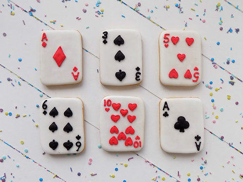 Playing Card Biscuits
