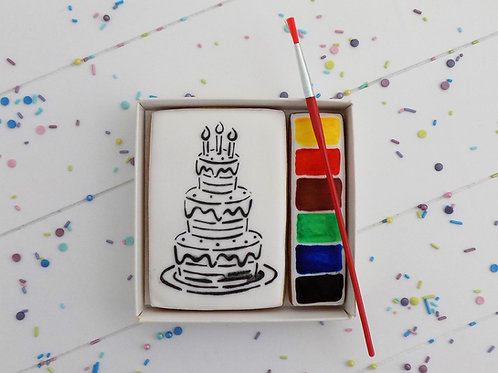 Paint Your Own - Birthday Cake