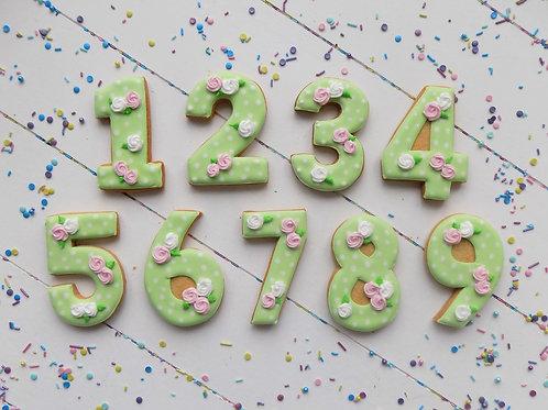 Flower Number Biscuits